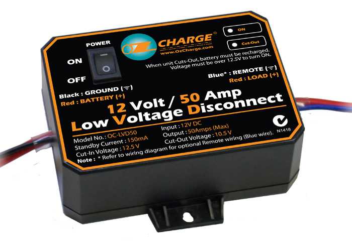 Oc Lvd50 12 Volt 50 Amp Low Voltage Disconnect Lvd