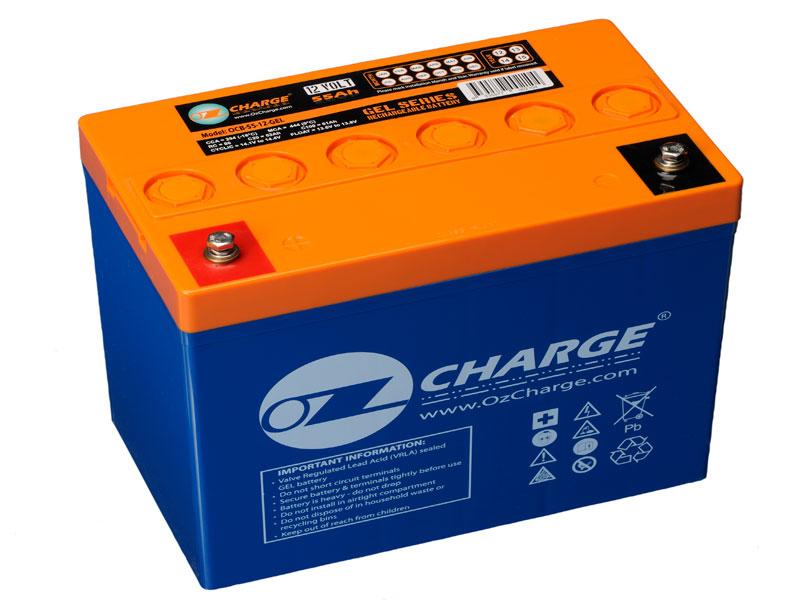 ocb 55 12 gel ozcharge 12v 55ah gel battery. Black Bedroom Furniture Sets. Home Design Ideas